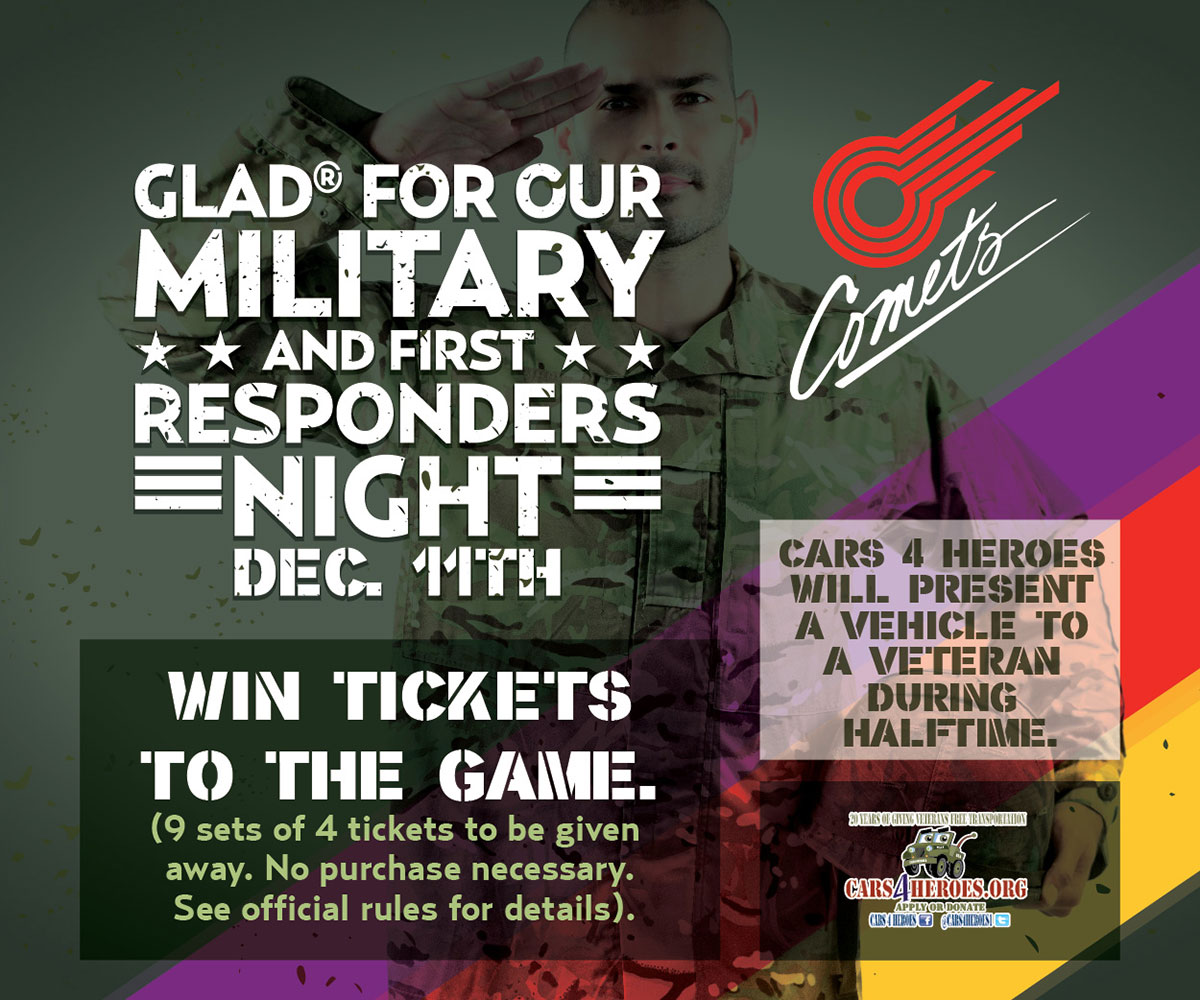 Comets Military Sweepstakes