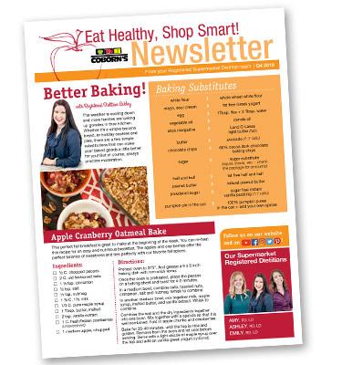 Eat Healthy, Shop Smart! Newsletter – 2018 – Quarter 4